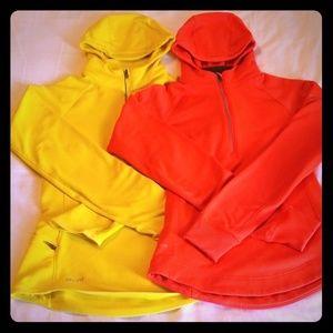 Half zip pullovers
